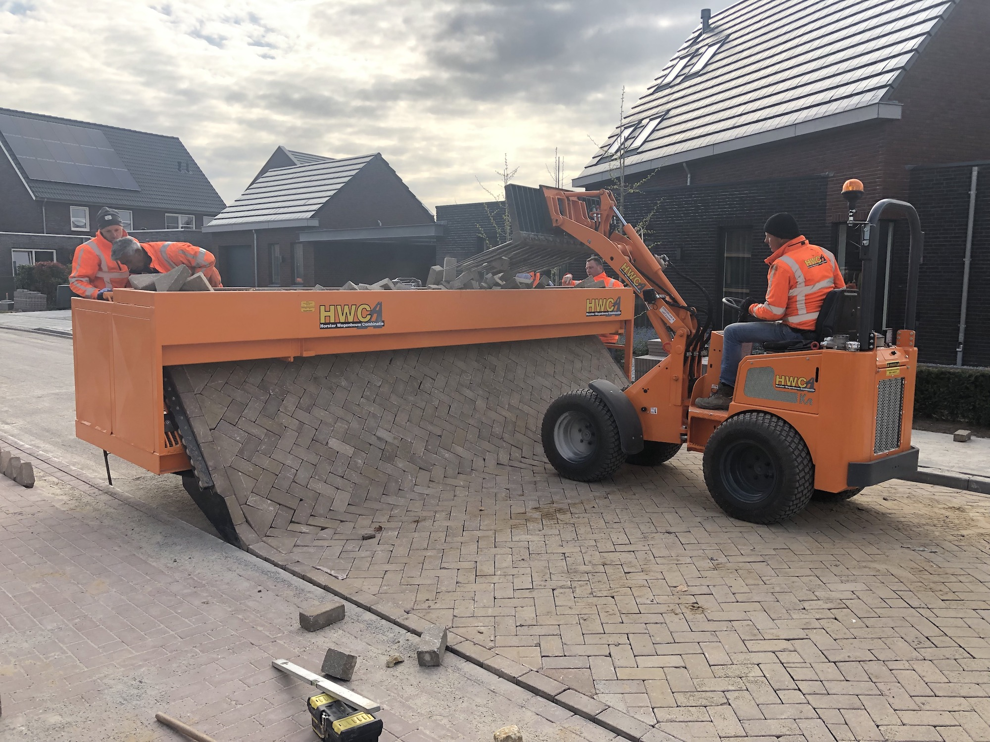 Straten met tigerstone roadprinter
